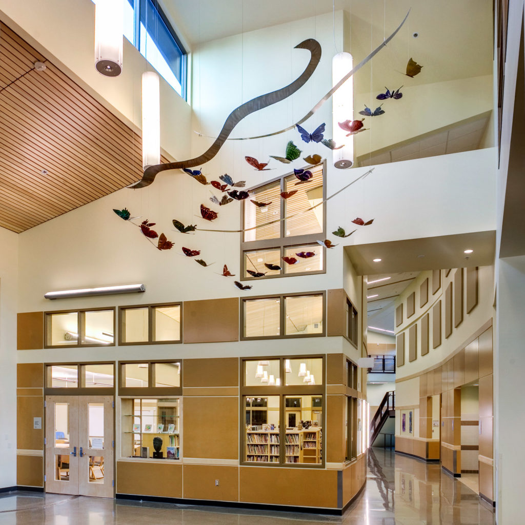 Robert Frost Elementary Hall and Library