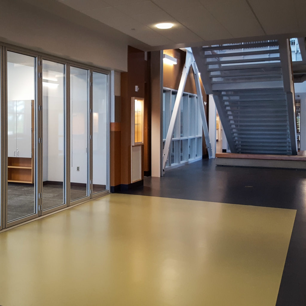 North Creek High School | Interior With Stairway and Glass Parti