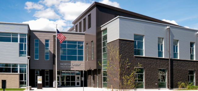 North Creek High School, Entrance