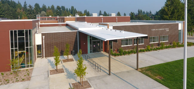 Front Entry. Olympic Hills Elementary School, Seattle, WA.