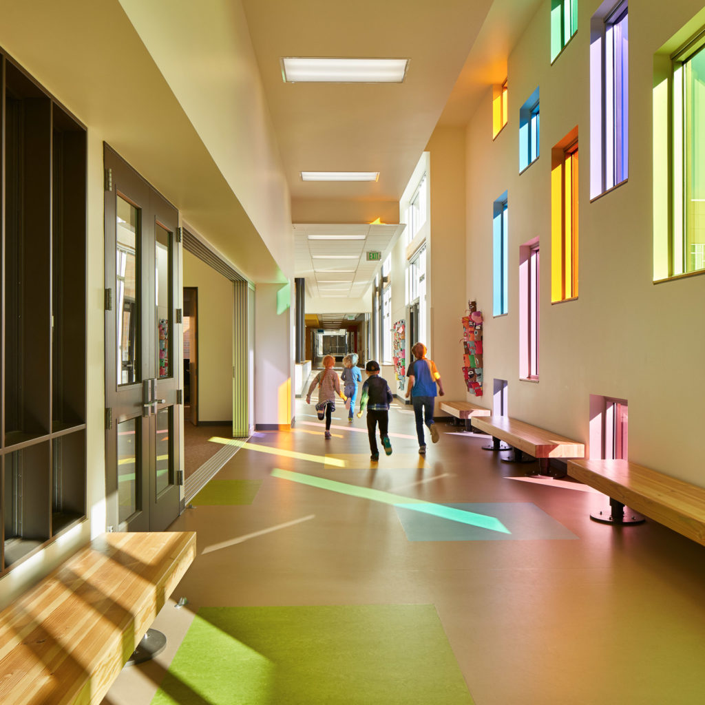 Olympic Hills Elementary School Hallway With Natural Light