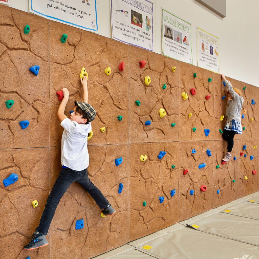 Olympic Hills Elementary School Climbing Wall