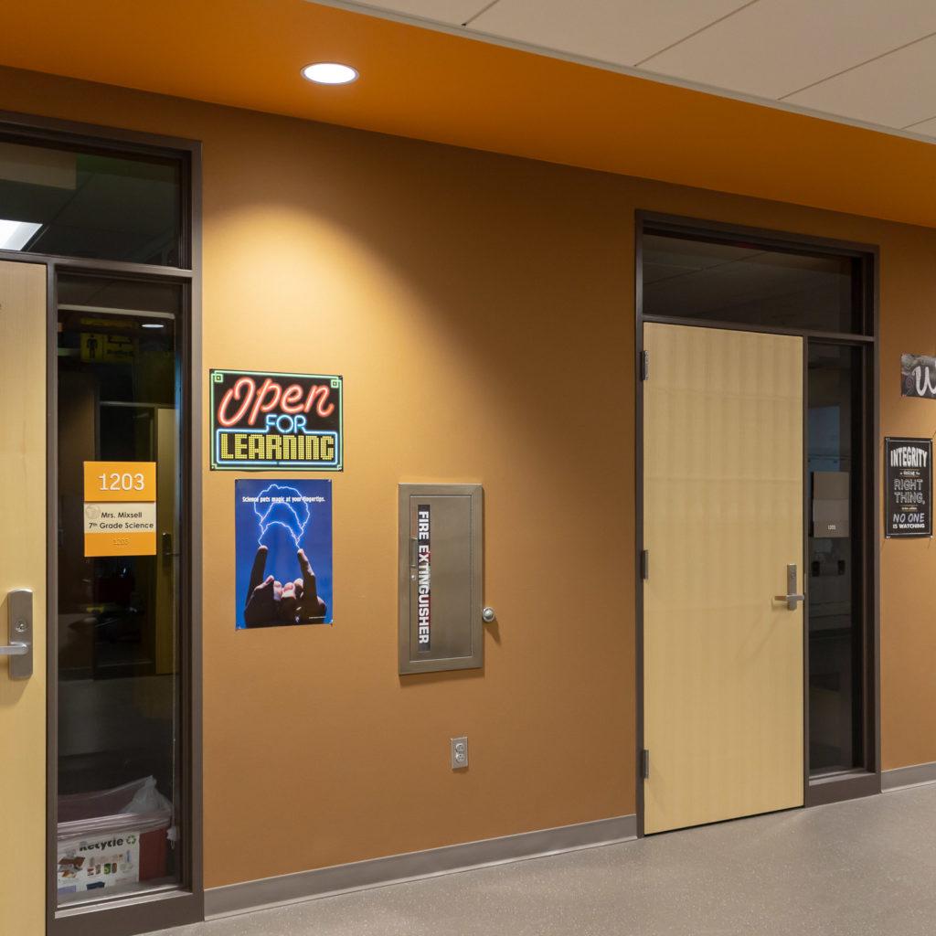 Pine Lake Middle School Classroom Corridor