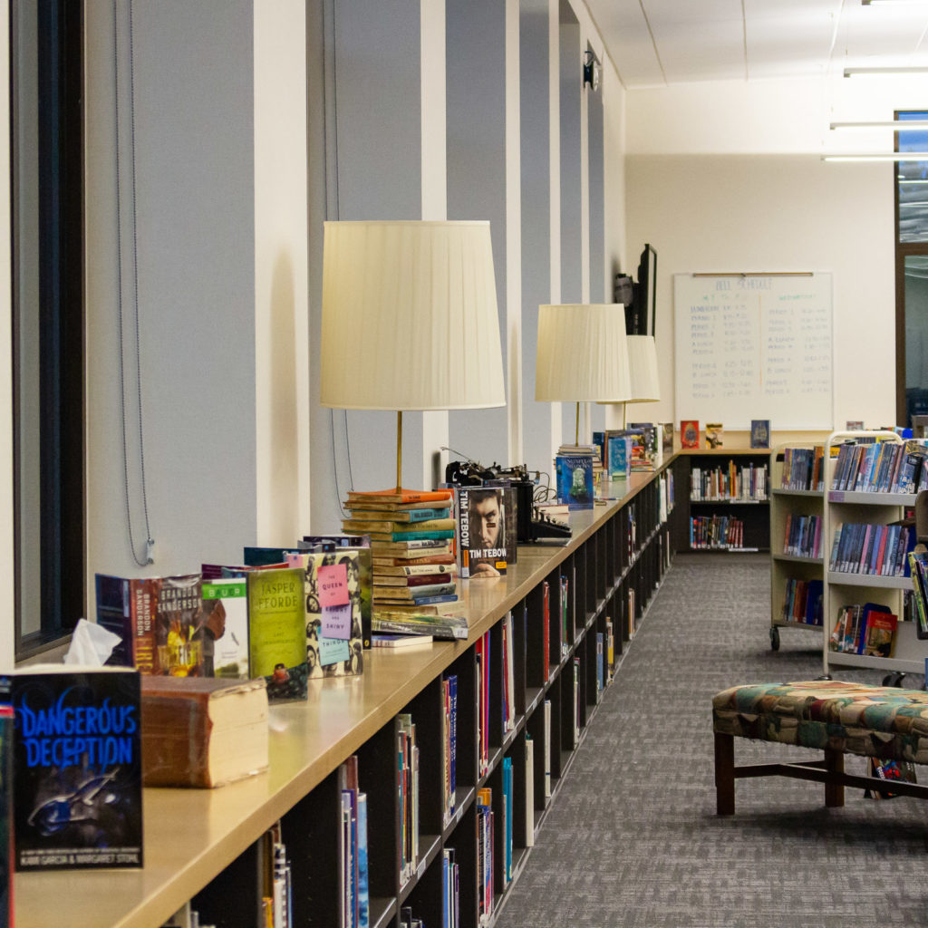 Pine Lake Middle School Library Casework