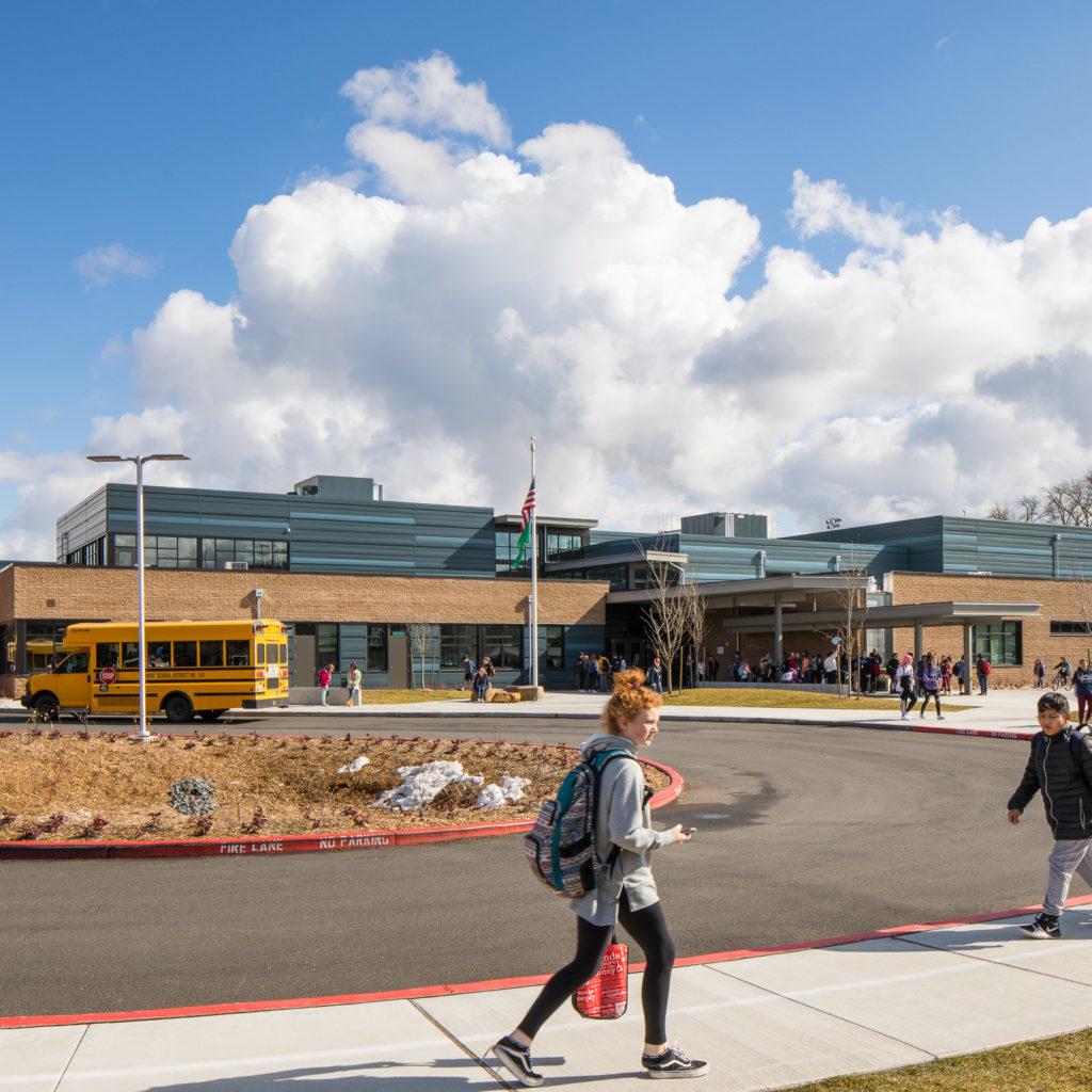 Park Place Middle School Front Entrance