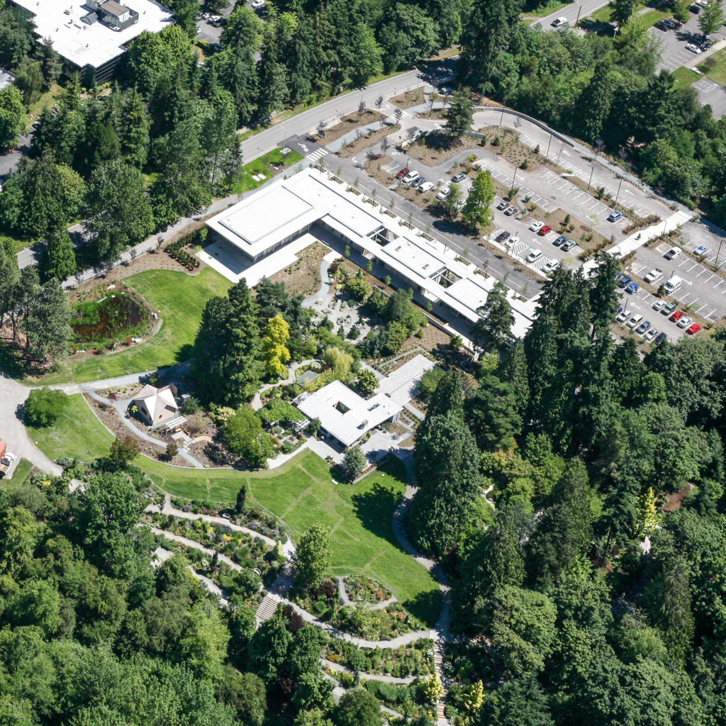 Bellevue Botanical Garden Aerial View, July 2014