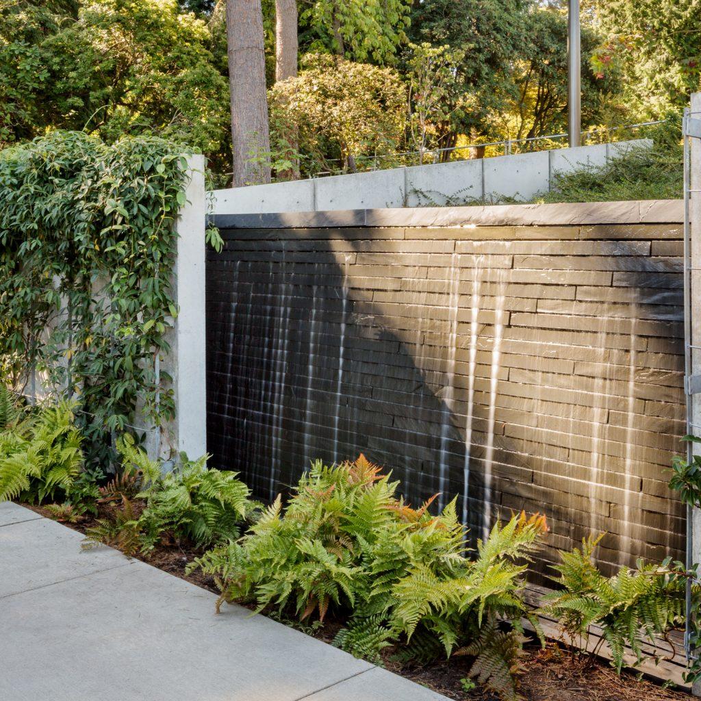 Bellevue Botanical Garden Visitor Center Waterfall