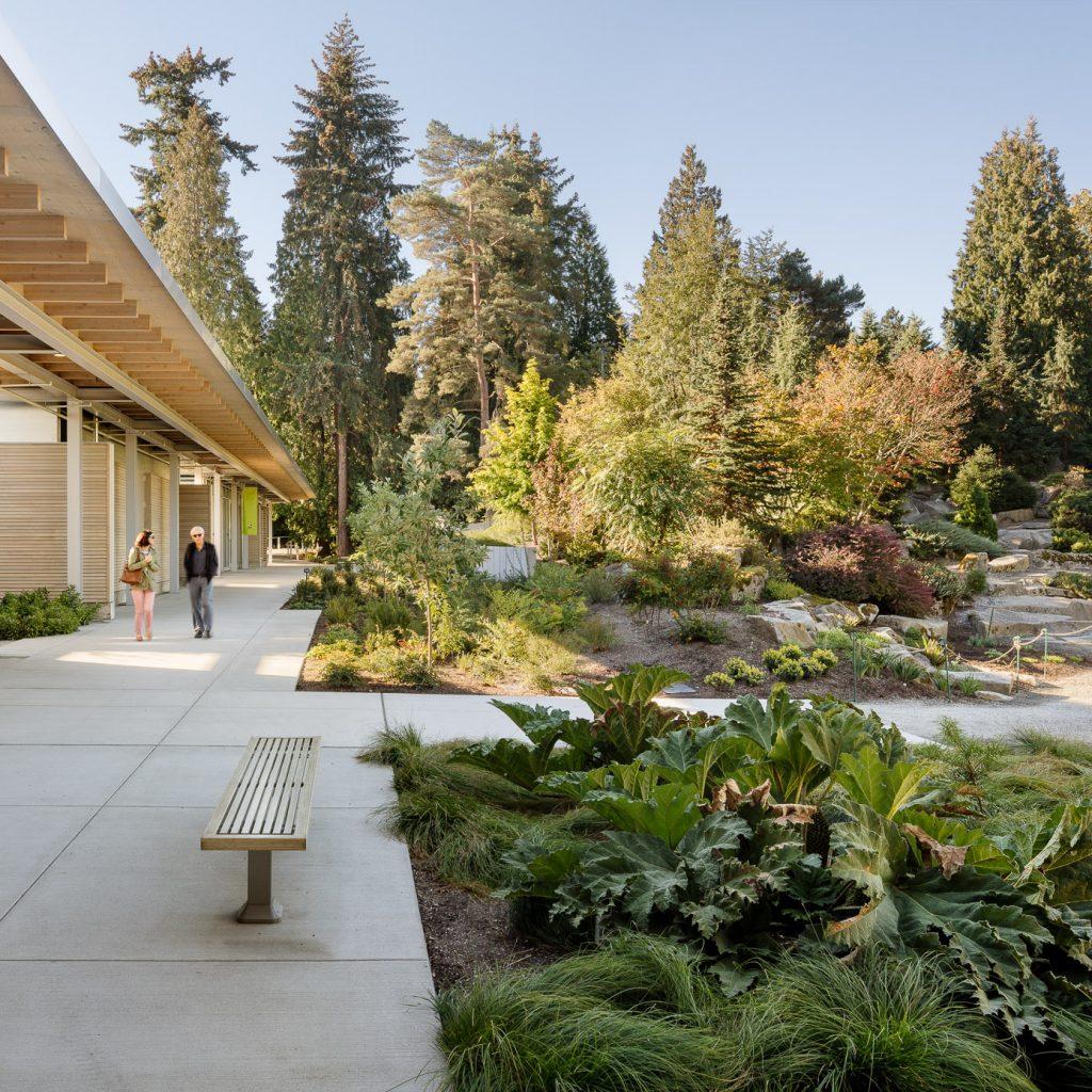 The Visitor Center overlooks the garden.
