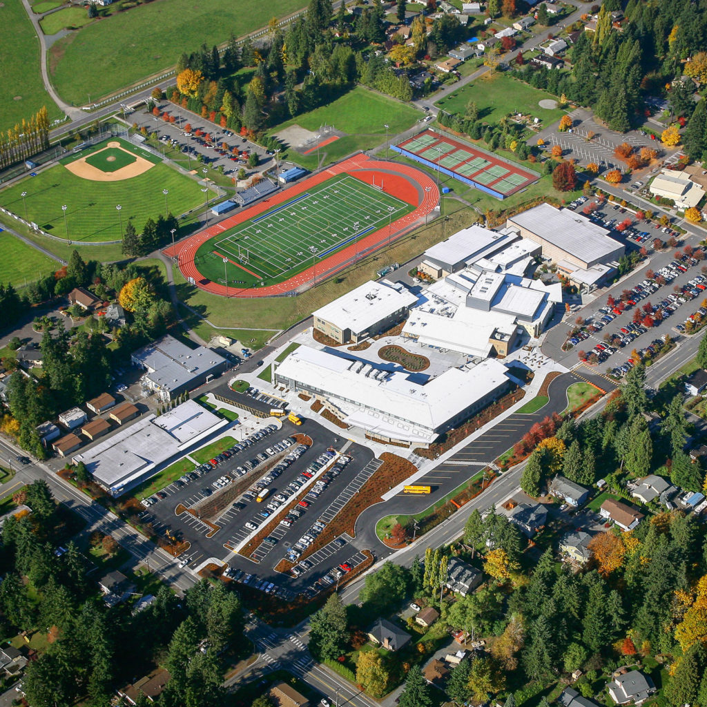 Bothell High School Aerial View, October 2008
