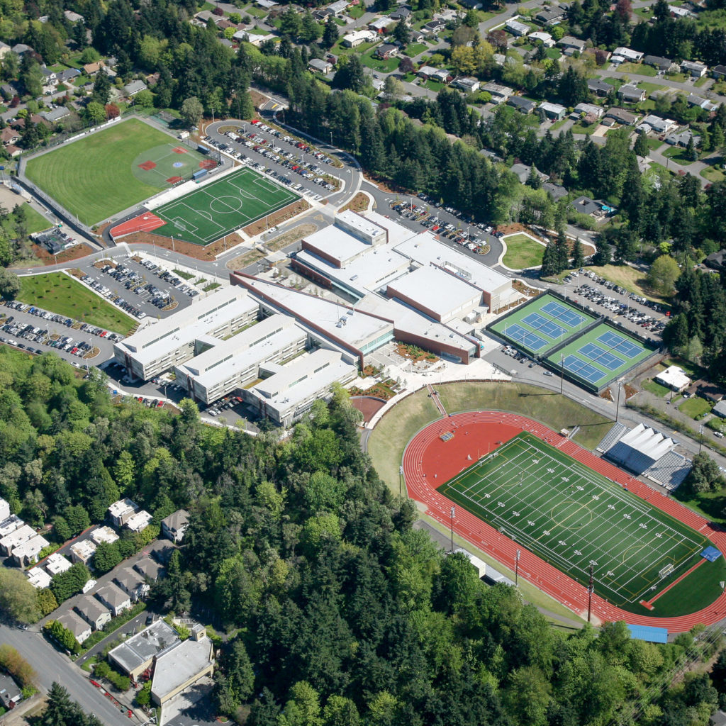 Bellevue High School Aerial View, May 2013