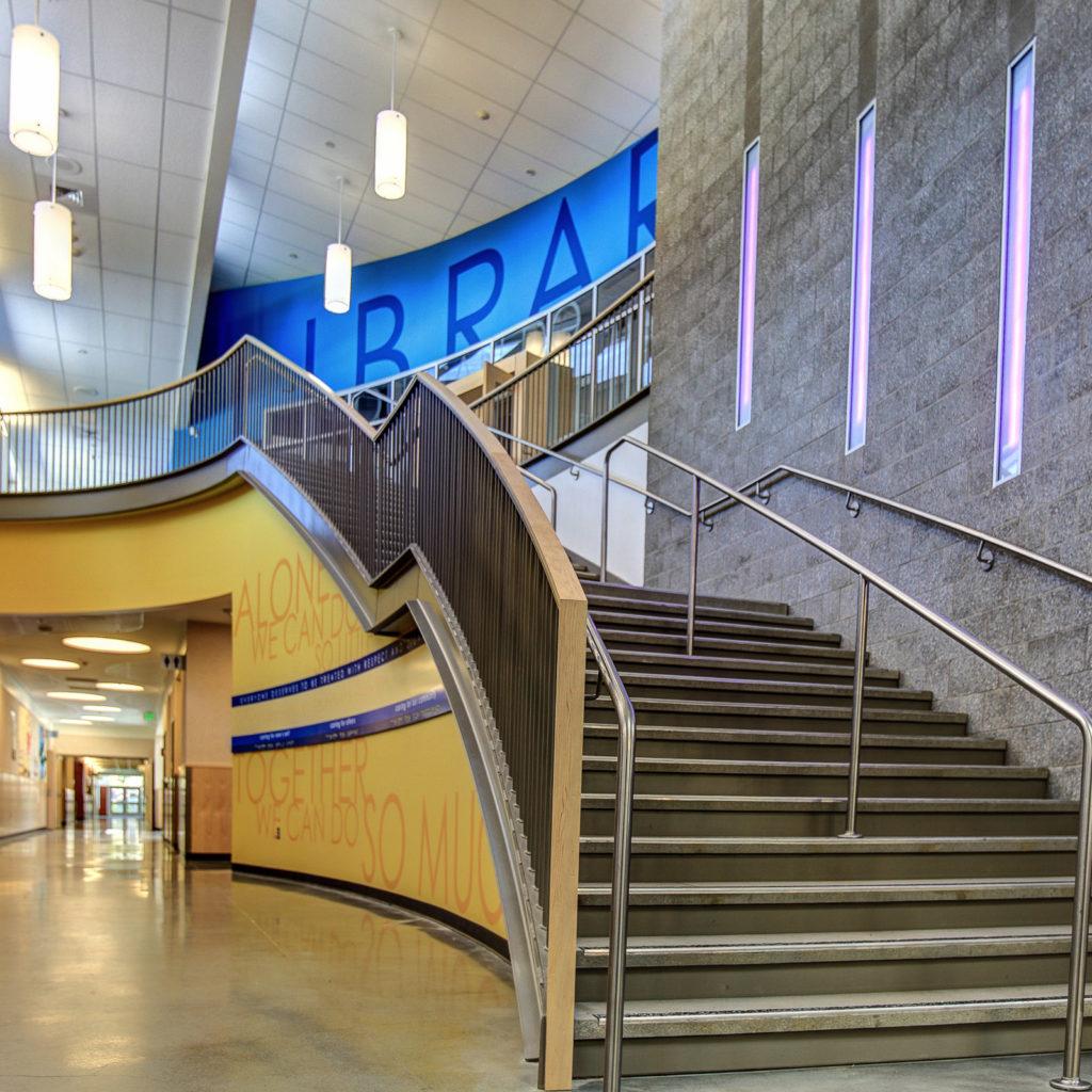 Helen Keller Elementary Grand Stairway