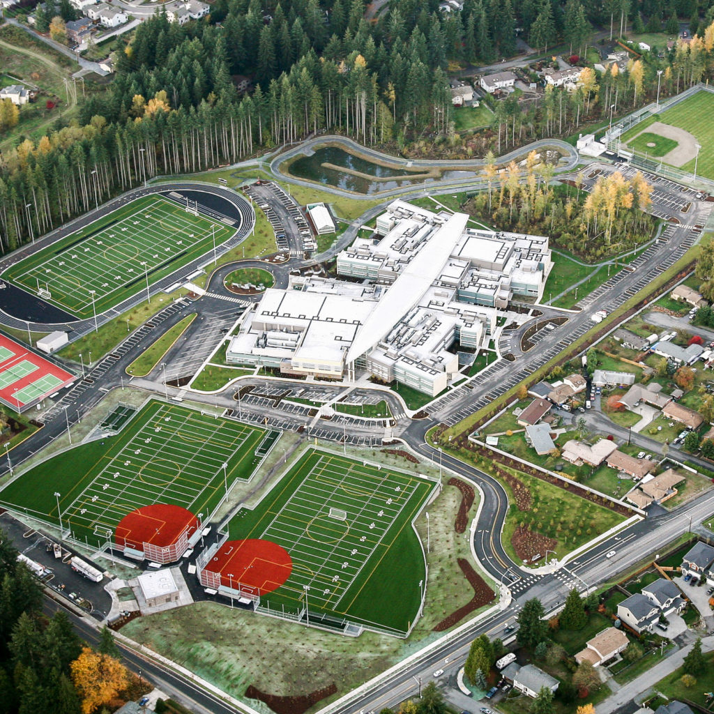 Lynnwood High School Aerial View, November 2009