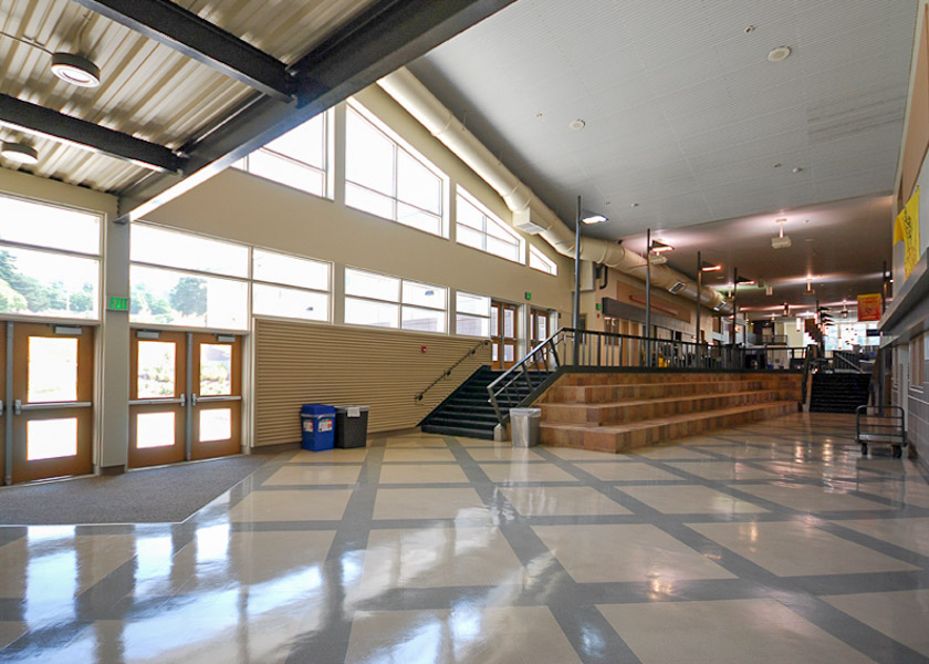 Newport High School Foyer