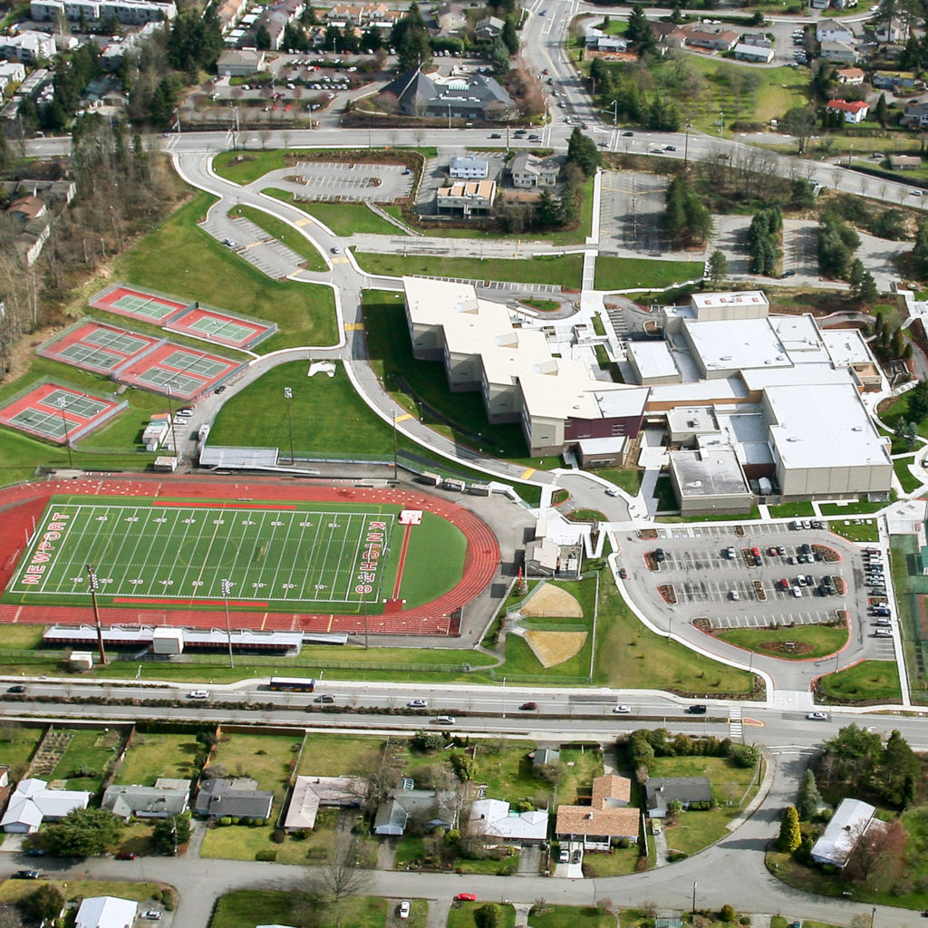 Newport High School Aerial View, March 2008