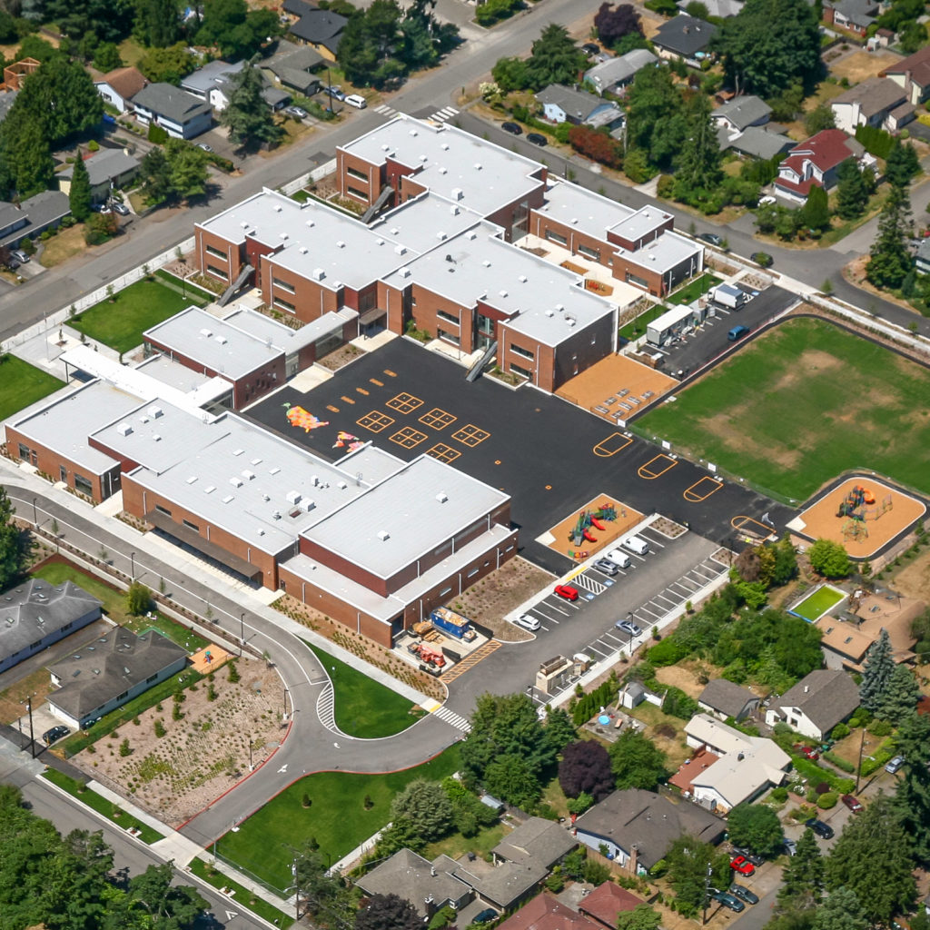 Olympic Hills Elementary School Aerial View, July 2017