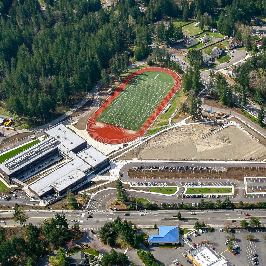 Pine Lake Middle School Aerial View, April 2019
