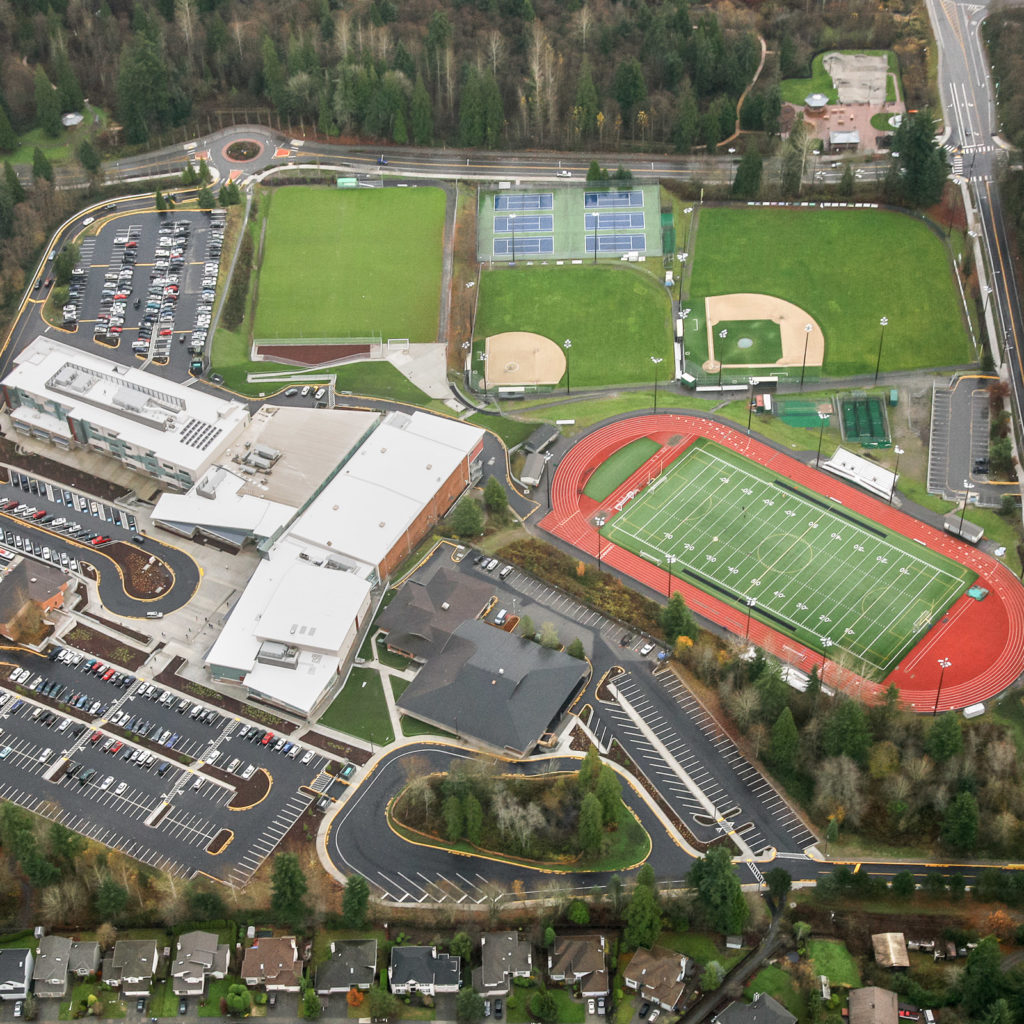 Woodinville High School Aerial View, December 2012